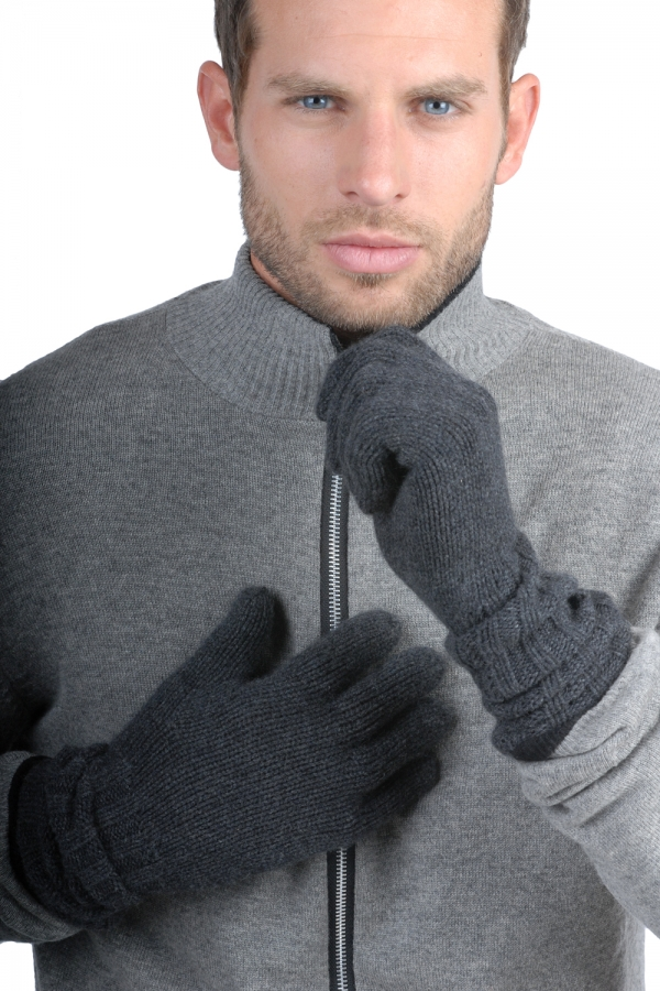 accessories gloves tadom charcoal marl one size
