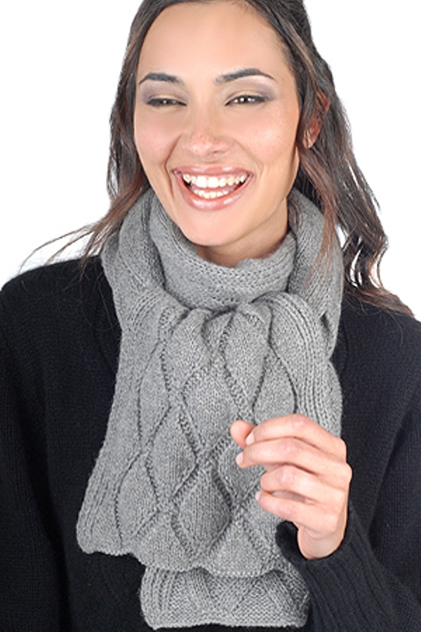 accessories scarves  mufflers cameron grey marl 200x24cm