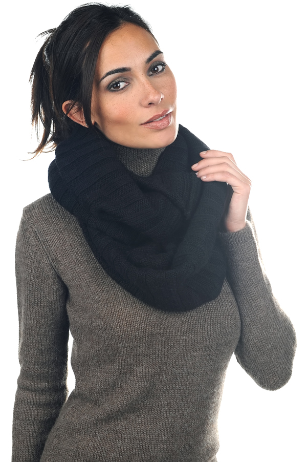 accessories snood ceylan alpa black 78 x 58 cm