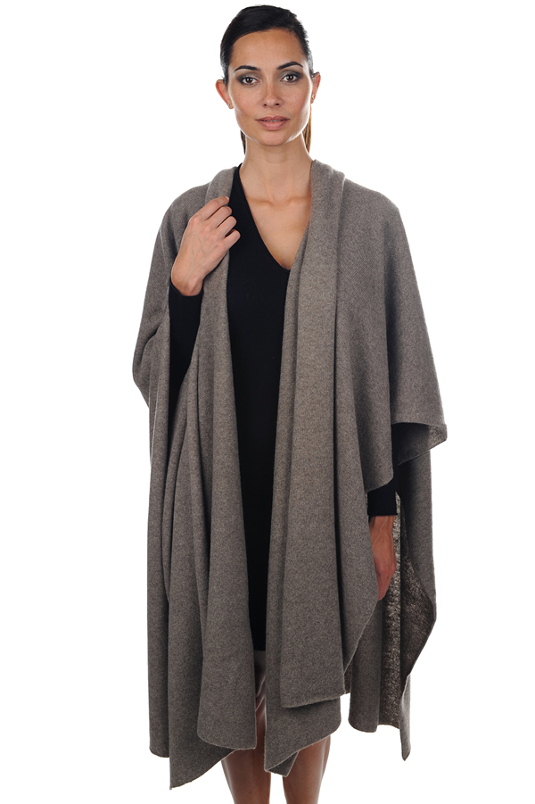 ladies ponchos norma natural dove one size