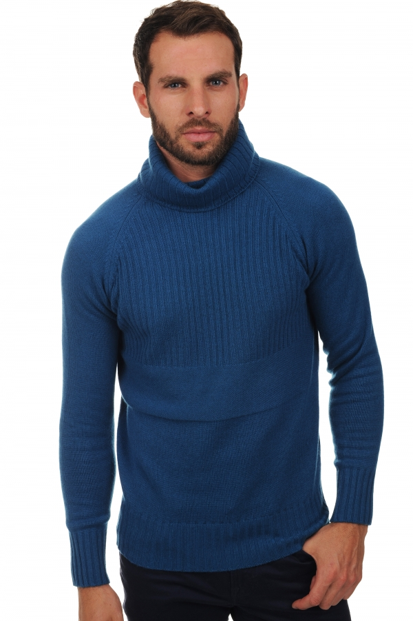 men polo necks misha canard blue xl