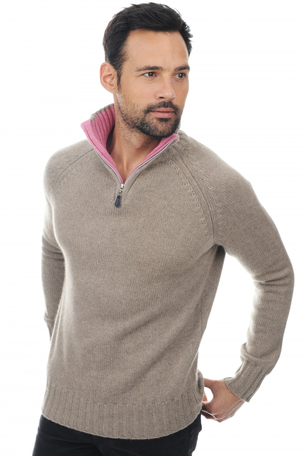 men polo style sweaters olivier natural brown bubble xxl