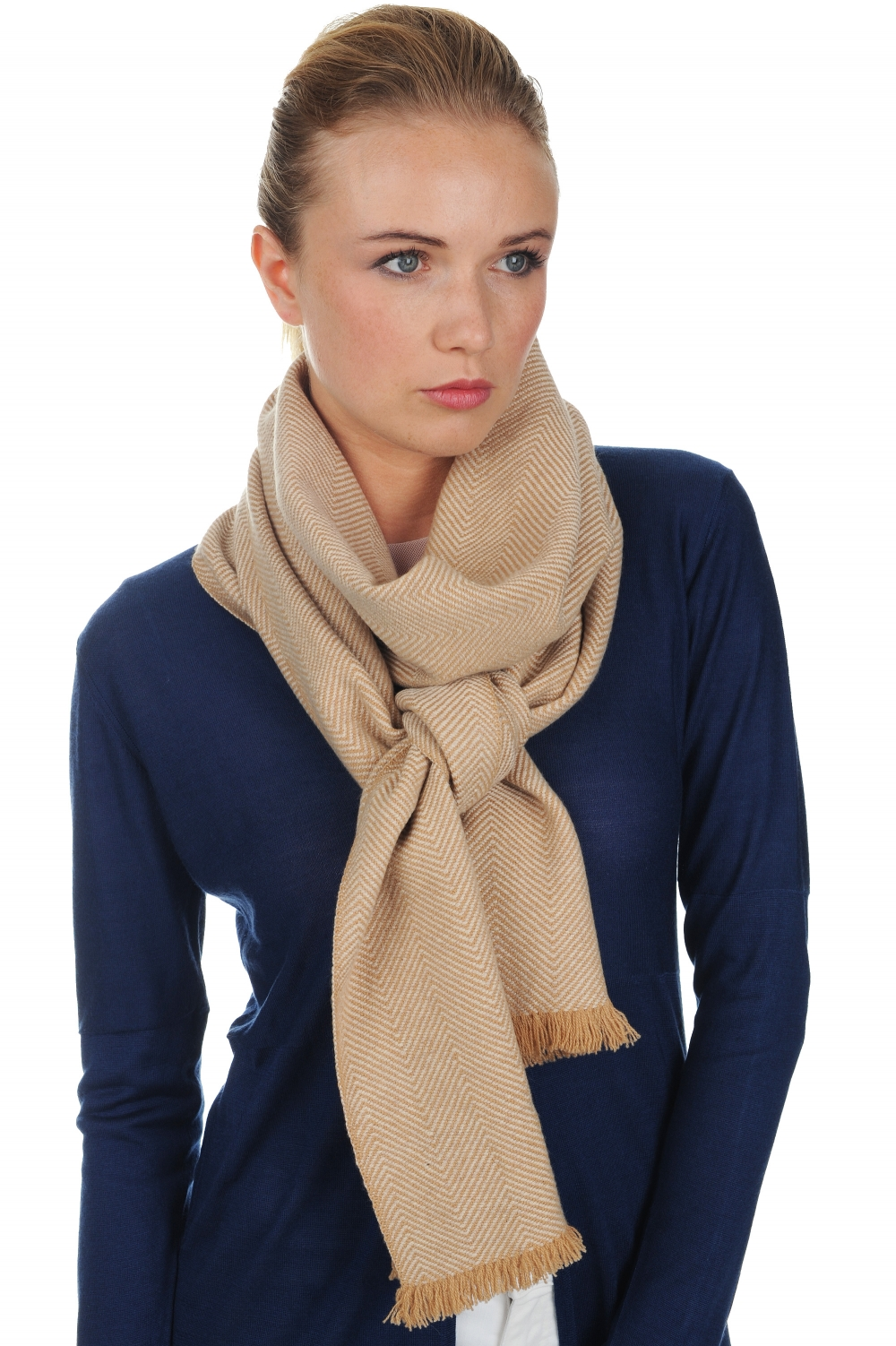 accessories scarves  mufflers orage camel 220 x 35 cm