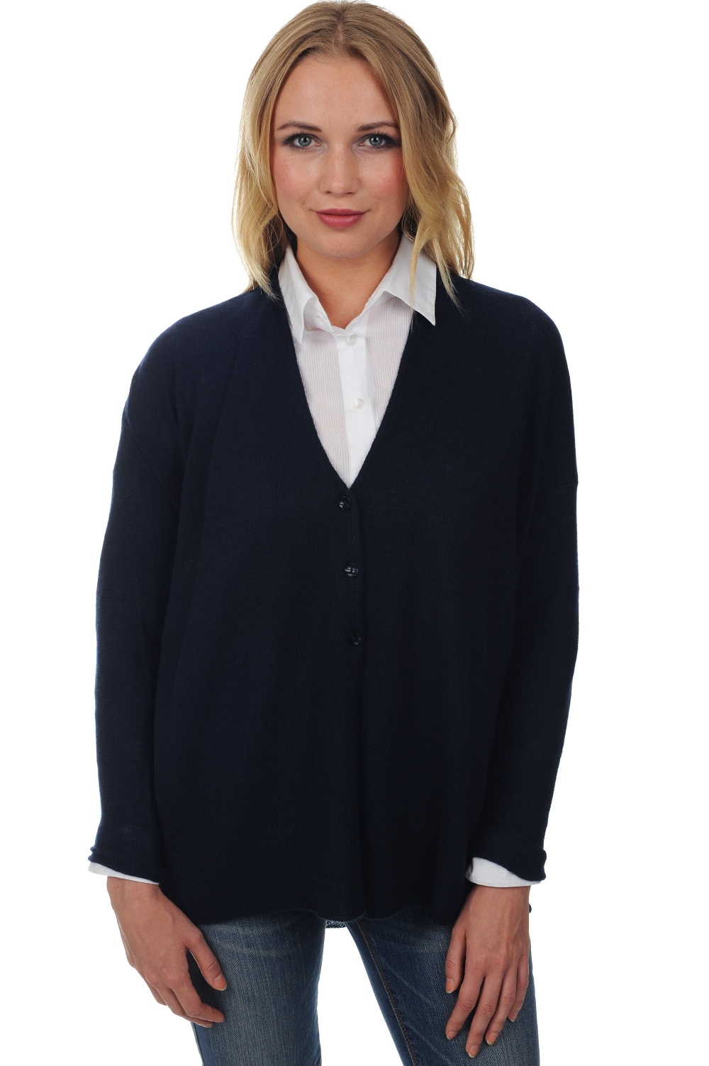 ladies cardigans molly dress blue s1