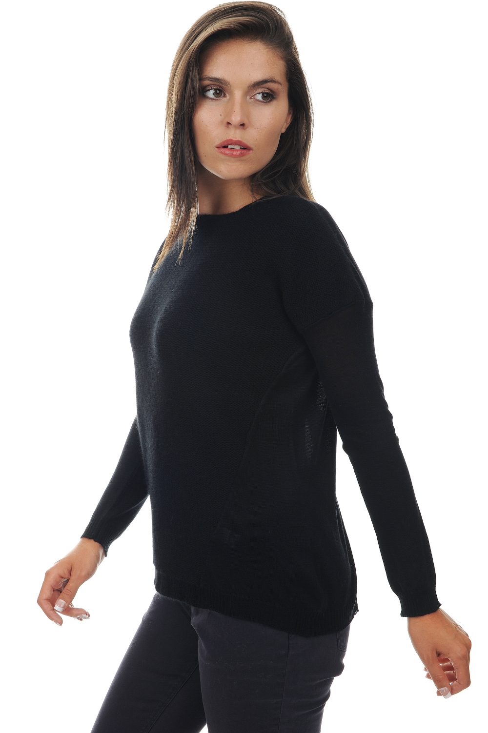 ladies cashmere  silk divine black s4