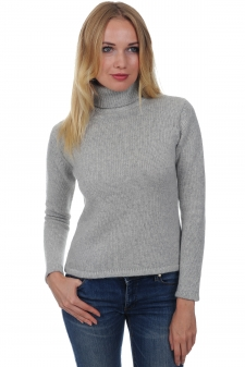 Cashmere  ladies chunky sweater carla