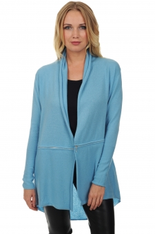 Cashmere  ladies springtime sweaters bluette