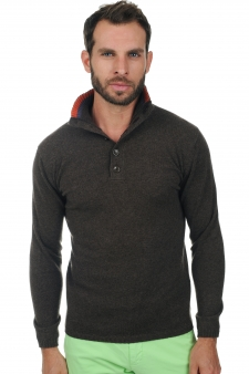 Cashmere  men polo style sweaters hani
