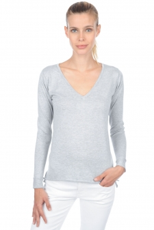 Cotton Giza 45  ladies v necks graziela