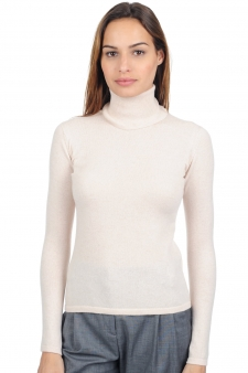 Cashmere  ladies polo necks jade