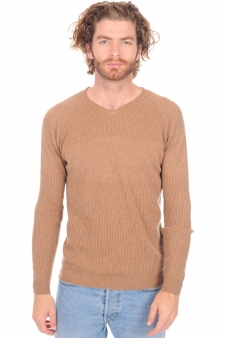 Cashmere  men v necks bronn
