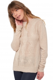 Cashmere  ladies chunky sweater shae