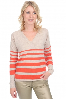 Cashmere  ladies v necks moira
