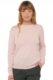 Cashmere  ladies round necks raison