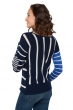 Cashmere & Silk ladies round necks bajool dress blue   majorelle   ivory s