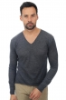 Cashmere Duvet men v necks leoduvet charcoal l