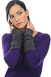 Cashmere accessories gloves ava matt charcoal 28x9cm