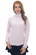 Cashmere ladies roll neck blanche shinking violet xs