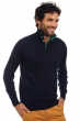 Cashmere men polo style sweaters gauvain dress blue evergreen xl