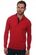 Cashmere men polo style sweaters scott blood red dark navy s