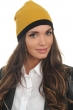 cashmere accessories bonnets bloup black mustard one size