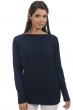 cashmere ladies round necks july dress blue l