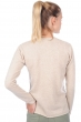cashmere ladies v necks cassie vintage beige chine natural brown s