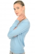 cashmere ladies v necks emerson teal blue natural brown s