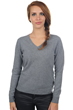 cashmere ladies v necks mong fv grey marl s