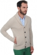 cashmere men waistcoat  sleeveless sweaters harvey vintage beige chine l