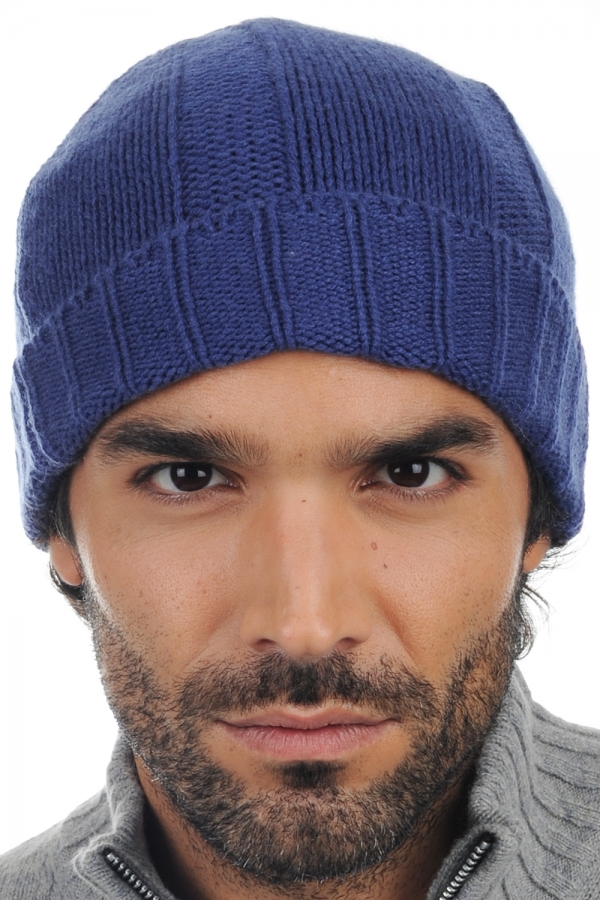 Cashmere accessories beanie ted twilight blue one size