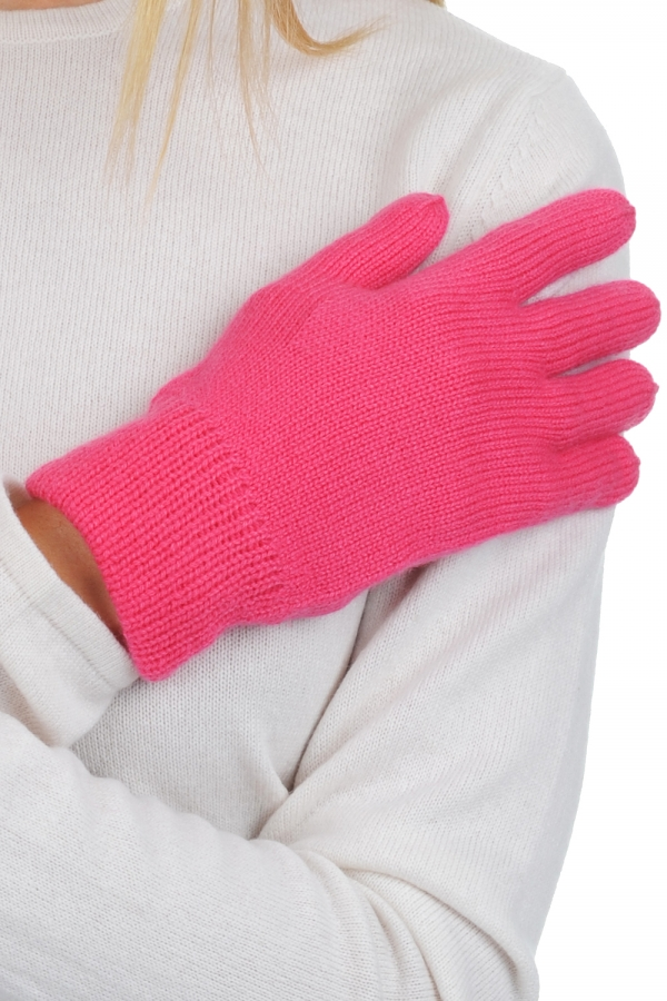 Cashmere accessories gloves manine shocking pink one size