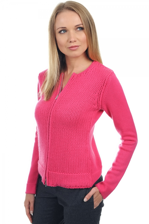 Cashmere ladies cardigans neola shocking pink l