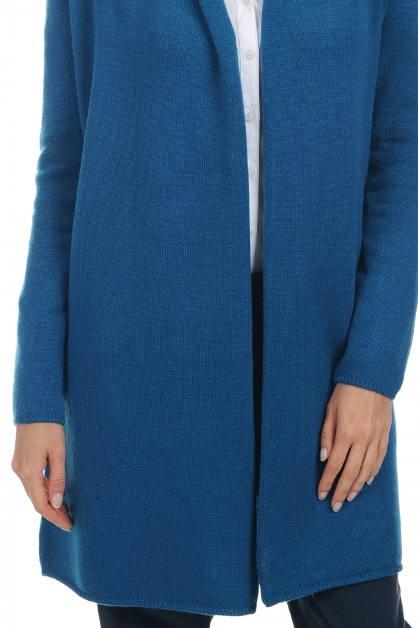 Cashmere ladies chunky sweater perla canard blue m