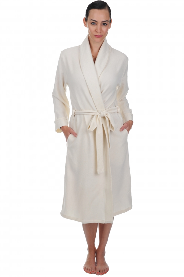 Cashmere ladies dressing gown mylady ecru s1