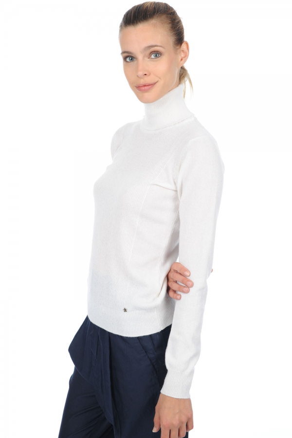 Cashmere ladies roll neck kassidy off white m