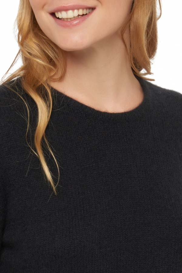 Cashmere ladies round necks rhapsodie black s