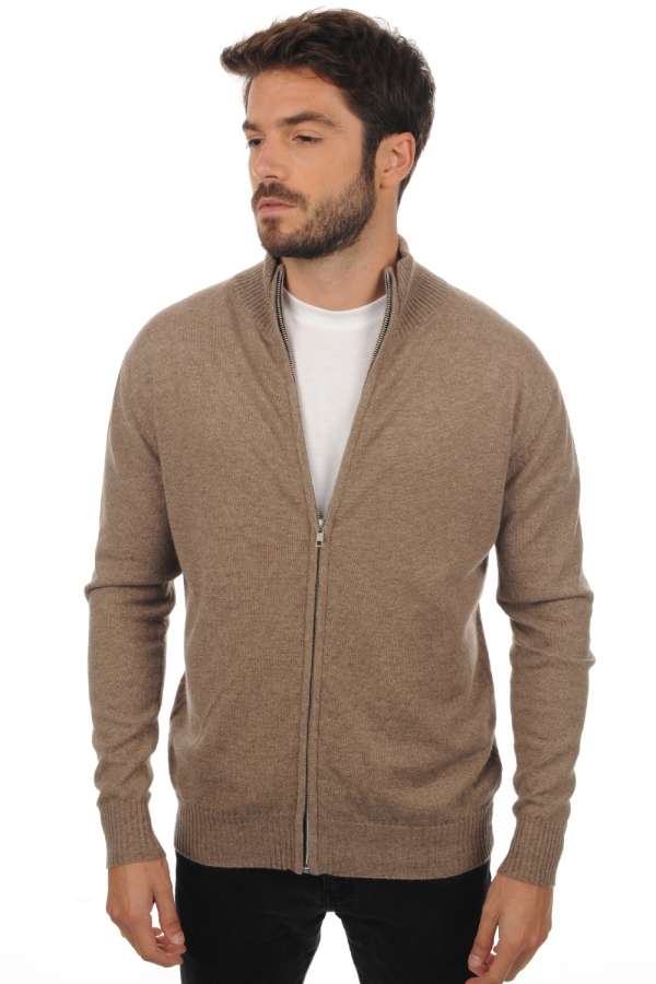 Cashmere men basic sweaters at low prices thobias natural brown m