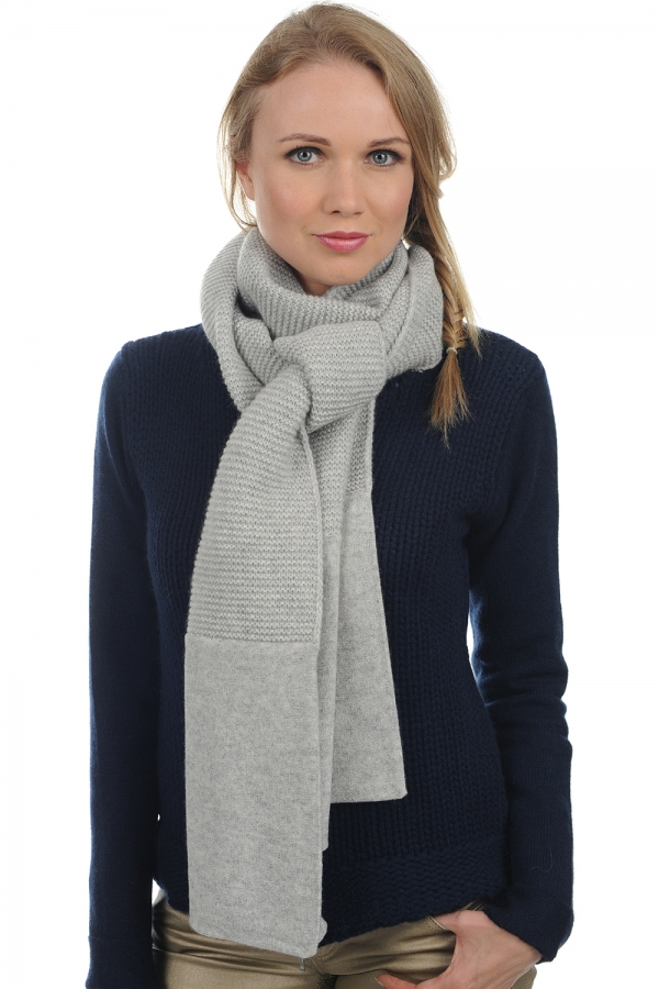 cashmere accessories scarves  mufflers mason flanelle chine 210 x 30 cm