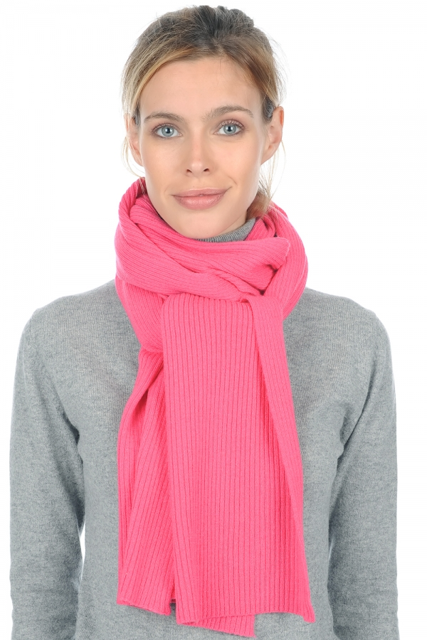 cashmere accessories scarves  mufflers prunelle shocking pink 240 x 30 cm