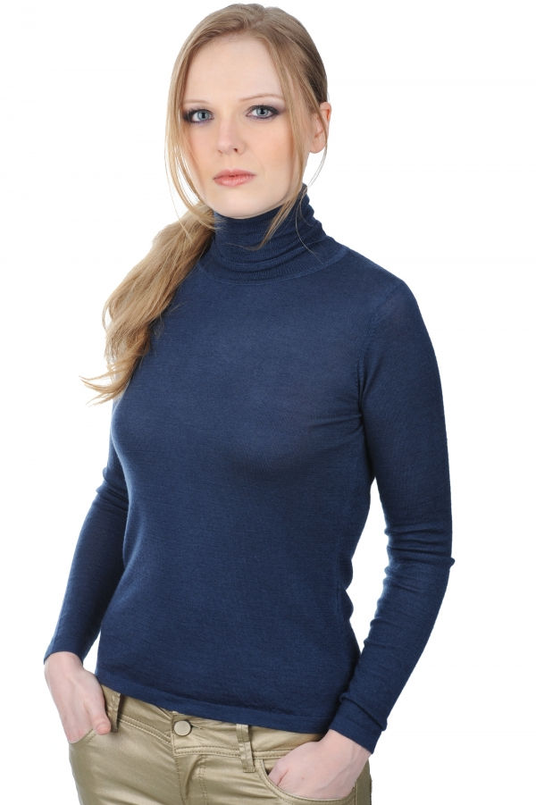 cashmere duvet ladies polo necks jaduvet dress blue s