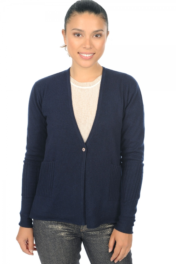 cashmere ladies cardigans bleuenn dress blue xs