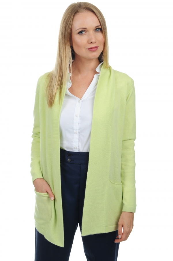 cashmere ladies cardigans franny lime green s