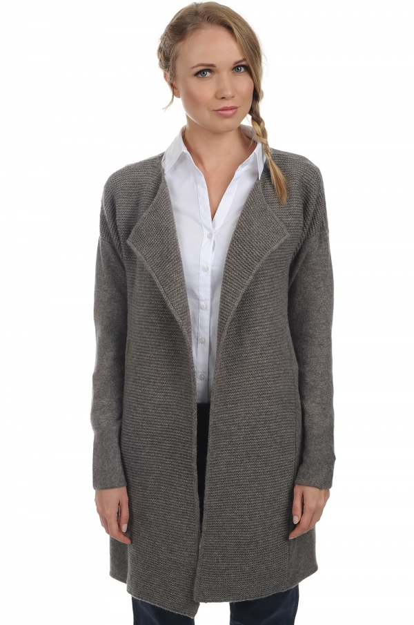 cashmere ladies cardigans hillary dove chine l