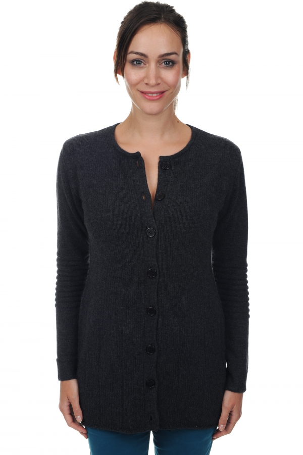 cashmere ladies cardigans michka charcoal marl s