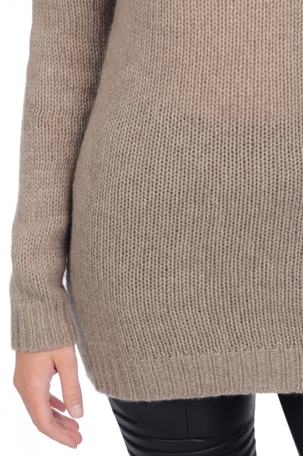 cashmere ladies chunky sweater marielle natural brown xs