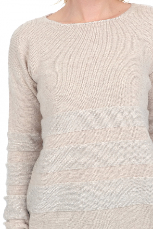 cashmere ladies chunky sweater marylou vintage beige chine s
