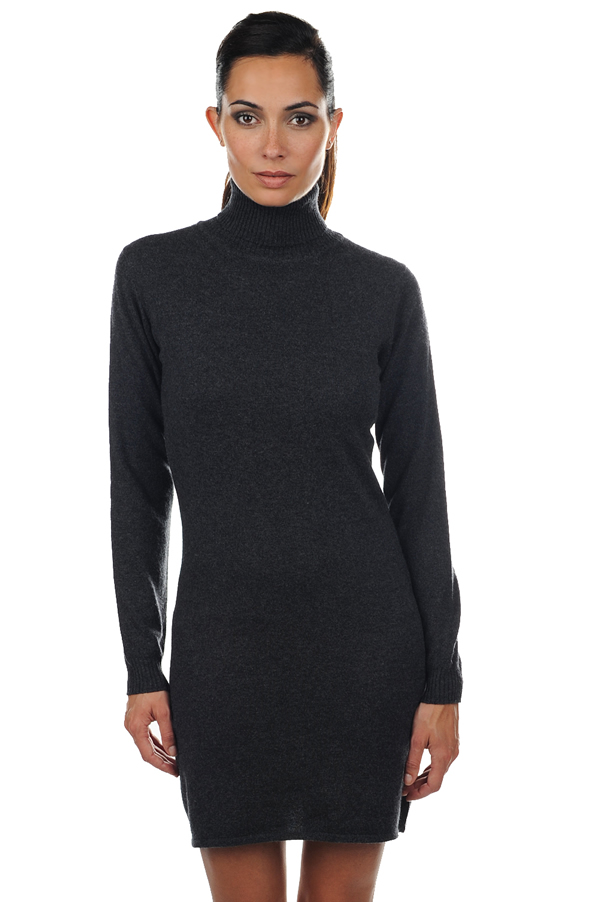 cashmere ladies dresses  coats abie charcoal marl xs
