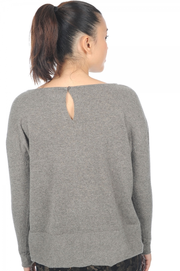 cashmere ladies round necks hoela dove chine s1