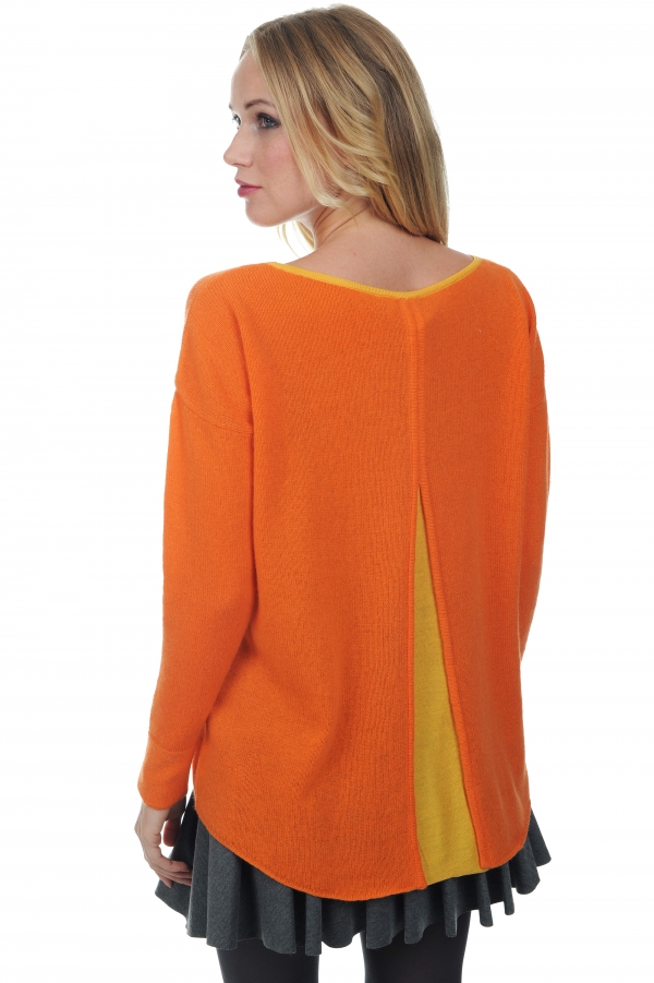 cashmere ladies round necks luce orange popsicle s2